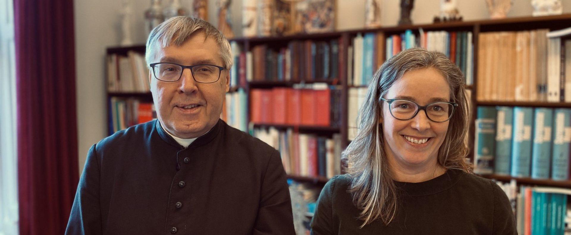 Biskop Czelaw og Generalsekretær i Caritas Maria Hammershøy